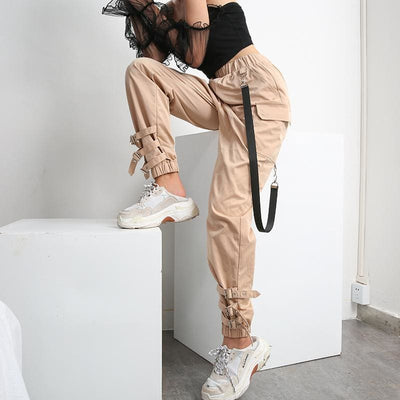 Khaki Streetwear Bottoms