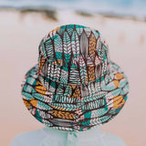 Boys Kids Beach Hat Bucket UPF50+ Surfboard Print