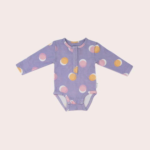 Lunar Long Sleeve Bodysuit- Lilac