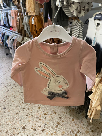 Cotton Tail Rabbit Tee- Pale Pink