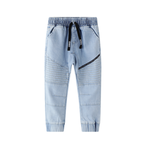 Harvey Detailed Jeans- Blue Denim