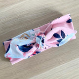 PEONY ROSE FLORAL TOP KNOT HEADBAND