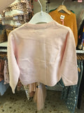 Penny Embroidered Cardigan- soft pink