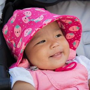 Girls Baby Bucket hat Strawberries print