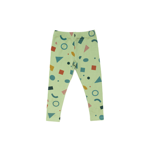 Shapes Leggings- print on green grass