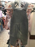 Aust Knit Overalls- iron Marle