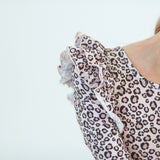 Leopard L/S Double Frill Leotard