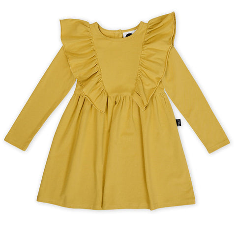 Mustard Ruffle Waisted Dress