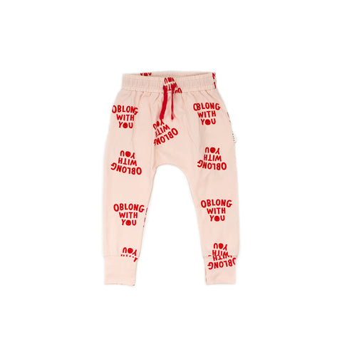 Obolong with you Harem pants- dusk with red