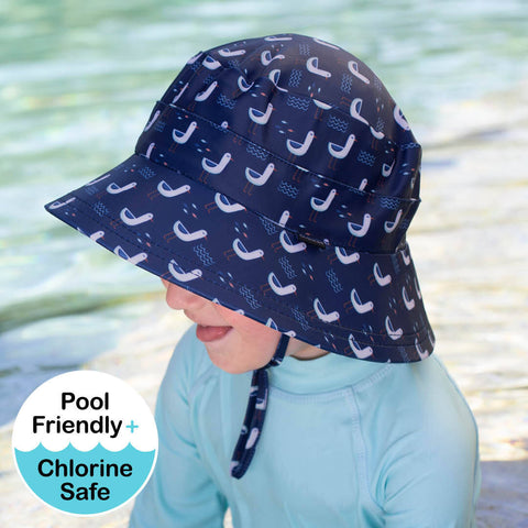 Kids Beach Hat Bucket UPF50+ Seagull Print