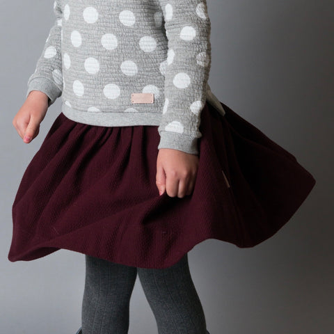 Girls Full Skirt- Wine
