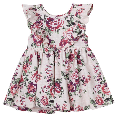 PEARL FLORAL S/S HAZEL DRESS - PINK