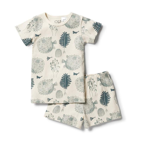 Little Ocean Organic Short Sleeve Pyjamas