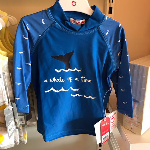 A whale of a time Long Sleeve rashie- blue