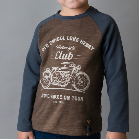 Boys LS Motorcycle Club Graphic Tee