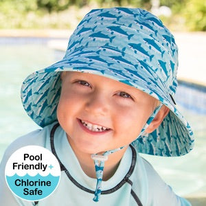 Boys Beach Hat Bucket UPF50+ Shark Print