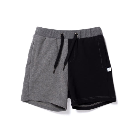 Branded Sweat Short- Charcoal/Black