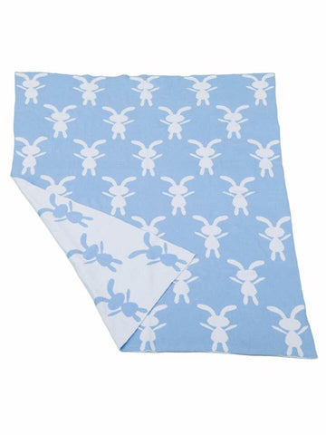 BUNNY BLUE/WHITE- Blanket
