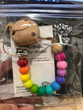 Rainbow Dummy Clip Soother Holder
