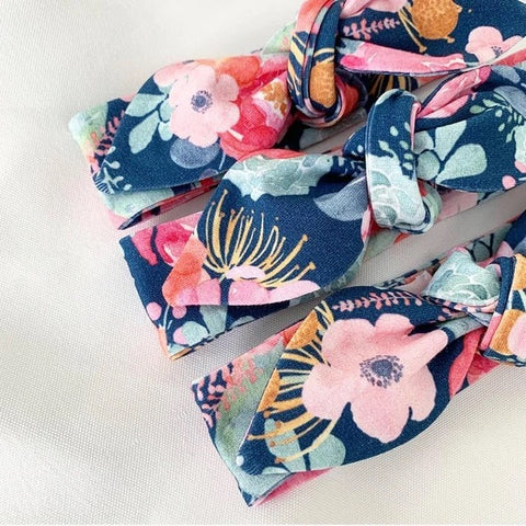 Poppy Navy Top Knot Headband