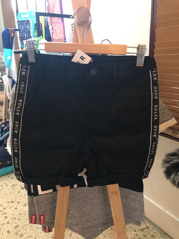 Roler Side Tape Short-black