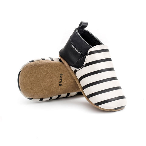 Slip-on Black & white stripe