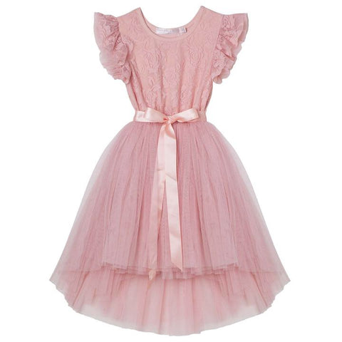 Libby Lace Tutu- Tea Rose