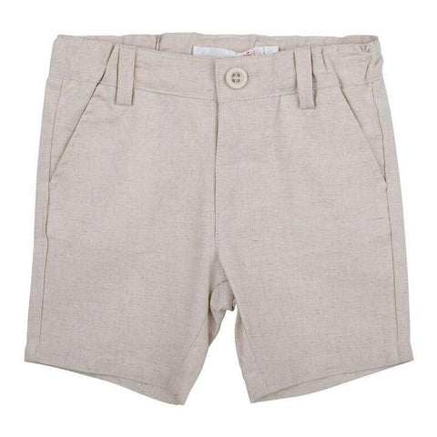 Toby Linen Shorts- sand
