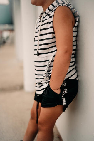 Striped Hooded Singlet