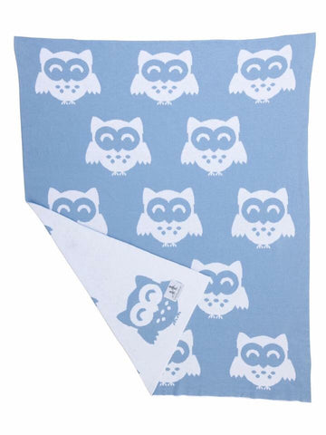 IT'S A HOOT BLUE/WHITE- Blanket