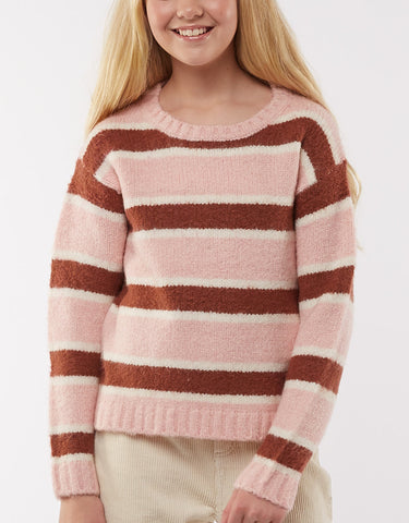 Margot Knit Crew- multi stripe