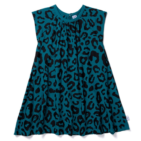 Safari Woven Dress- Teal