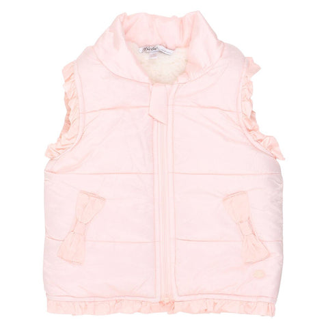Girls Puffer Vest- pearl pink