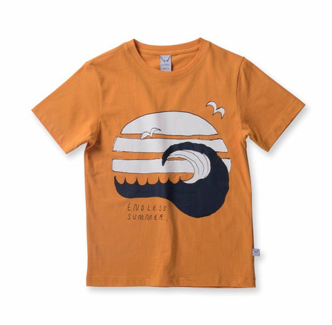 Boys Summer Scene Tee-orange