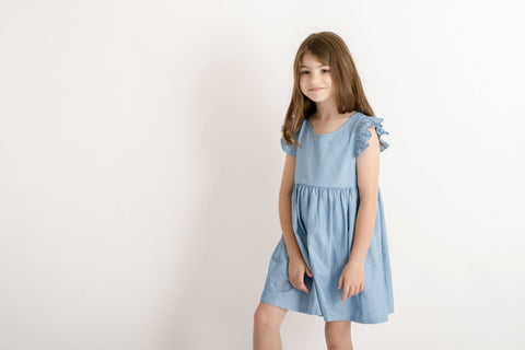 Chambray Summer Luxe Frill Dress