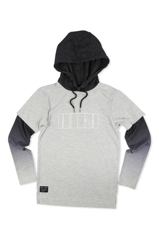 Roler Cut Chest Hoodie- grey