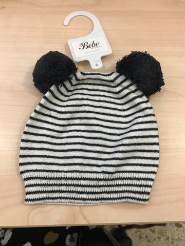 Sheep Stripe Beanie- natural stripe
