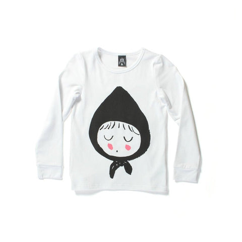 Littlehorn riding hood tshirt-white
