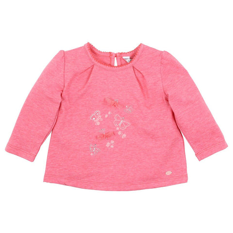 Amelia Butterfly Top- mid pink