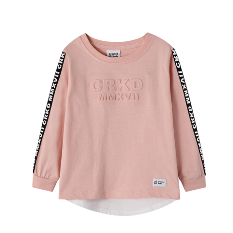 Ari Embossed Casual Tee- Dusty Pink