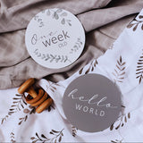 Wild Fern & Grey Reversible Milestone Cards