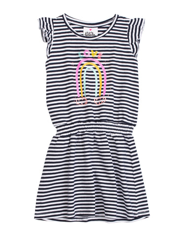 Big Love Dress- navy & white stripe