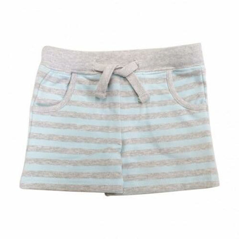 Stripe Short - Teal & Grey