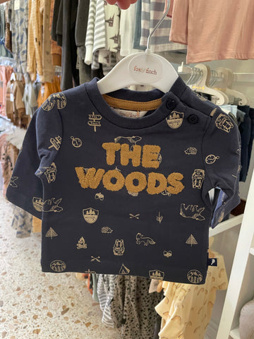 The Woods LS Tee- Camp Print