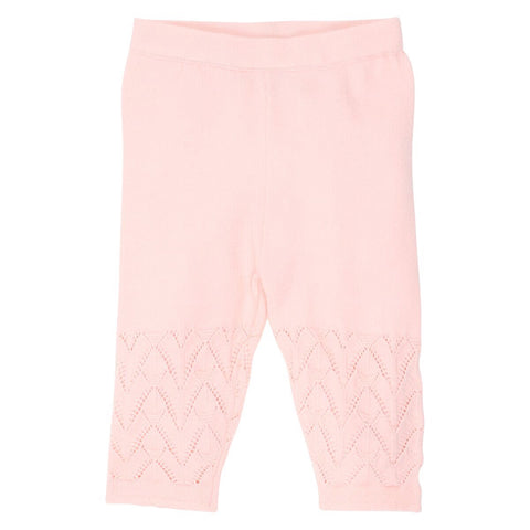 Pointelle Knit Leggings- pale pink