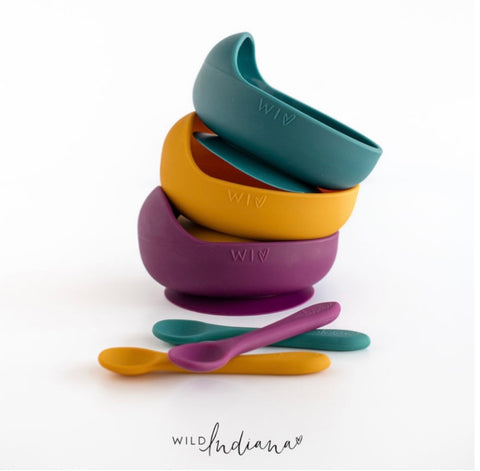 Velvet Winter Limited Edition Silicone Bowl & Spoon set