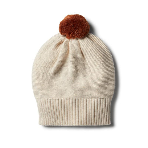 Oatmeal Knitted Hat