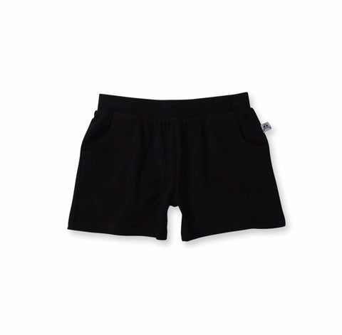 Girls Standard Lounge Short-Black