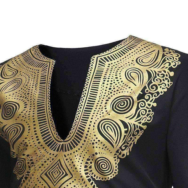 African Dashiki Tshirt Men 3D printed Maxi Man- Online at African Men Clothes