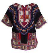 Fashion Design African Traditional Print 100% Cotton Dashiki T-shirt- Online at African Men Clothes